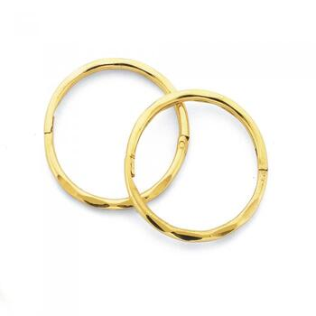 9ct Gold Medium Facet Sleepers