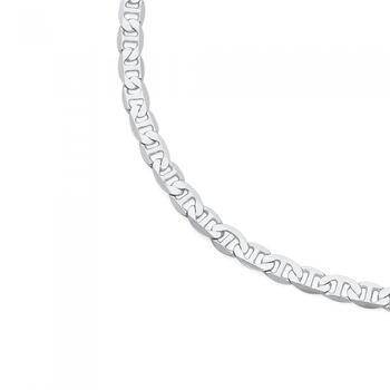 Silver 25cm Anchor Link Anklet