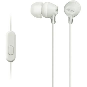 In Ear MDREX15APW White Headphones