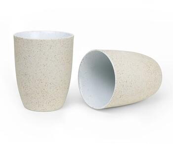Granite Latte Set (2) 330ml 11.2oz - White