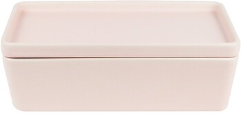 NEW Stack, Serve and Store Rectangle Bowl & Plate 27 / 13.5 / 2.5cm 27 / 13.5 / 8cm - Matte Pink