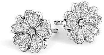 NEW Stud Earrings with 0.12 Carat of Diamonds in Sterling Silver