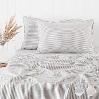 Stripe Linen Cotton Sheet Set by Habitat