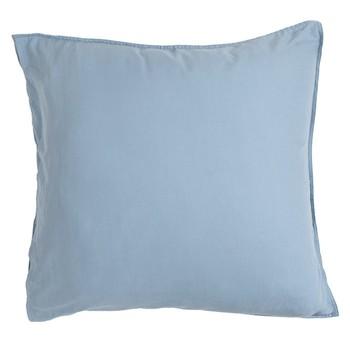 Washed Linen Look Denim European Pillowcase by Essentials