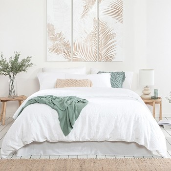 Laguna Palm Quilt Cover Set by Habitat