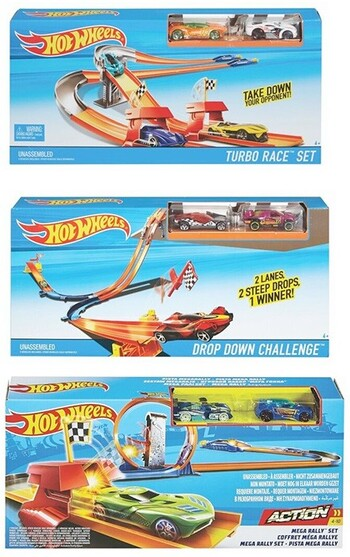 Assorted Hot Wheels Race Rally Track Set