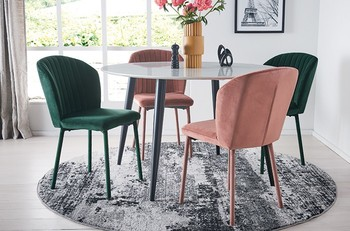 Monaco 5 Piece Dining Set with Langton Dining Chairs