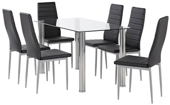 Zoe 7 Piece Dining Set with Zara Dining Chairs
