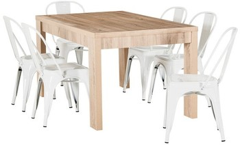 Havana 7 Piece Dining Set with Replica Tolix Dining Chairs