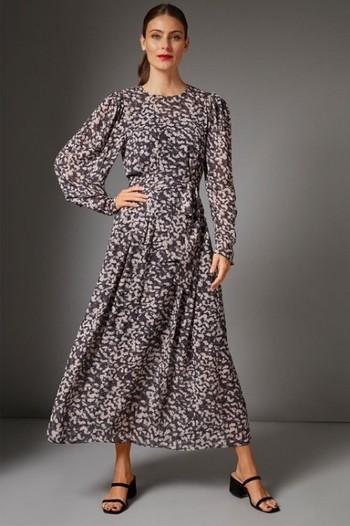Grace Hill Chiffon Handkerchief Hem Dress