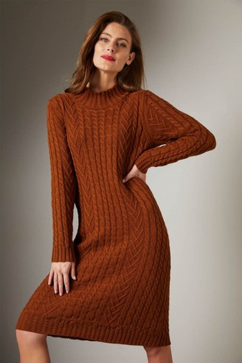 Grace Hill Cable Knit Dress