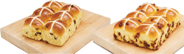 Indulgent Fruit Or Cadbury Choc Brioche Hot Cross Bun Varieties Pk 6 Woolworths Catalogue Salefinder
