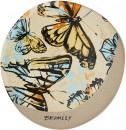 RGA-x-Bromley-Coaster-10.5-1.2cm-4.1-0.4-Yellow-Butterflies Sale