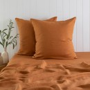 Washed-Linen-Rust-European-Pillowcase-Pair-by-M.U.S.E Sale