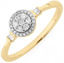 Evermore-Promise-Ring-with-0.15-Carat-TW-of-Diamonds-in-10ct-Yellow-Gold Sale