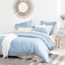 Washed-Linen-Look-Denim-Quilt-Cover-Set-by-Essentials Sale