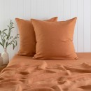Washed-Linen-Rust-European-Pillowcase-Pair-by-M.U.S.E Sale