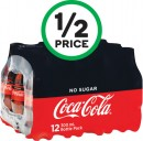 Coca-Cola Classic or No Sugar Soft Drink Varieties 12 x 300ml