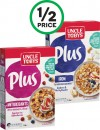 Uncle Tobys Plus Cereal 410-435g