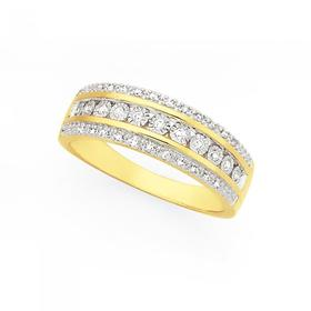 9ct-Gold-Diamond-Dress-Ring on sale