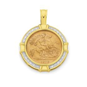 9ct-Gold-Half-Sovereign-Pendant on sale