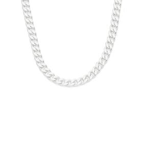 Silver-45cm-Solid-Curb-Chain on sale