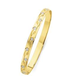 9ct-Gold-Two-Tone-Solid-Bangle on sale