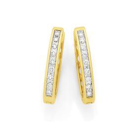 9ct-Gold-Diamond-Channel-Set-Huggie-Earrings on sale