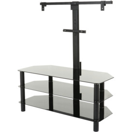 TV-Stand-with-Bracket-1050mm-Glass-3-Shelf on sale