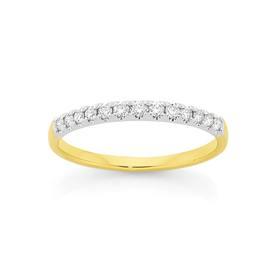 18ct-Gold-Diamond-Anniversary-Band on sale