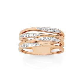 9ct-Rose-Gold-Diamond-Dress-Ring on sale