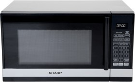 Sharp-800W-Compact-Microwave-BlackSilver on sale