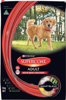 Supercoat-Smart-Blend-Dry-Adult-Dog-Food-12kg-Chicken on sale