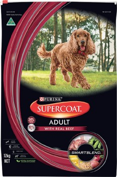 Supercoat-Smart-Blend-Dry-Adult-Dog-Food-12kg-Beef on sale