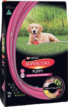 Supercoat-Smart-Blend-Dry-Dog-Puppy-Food-12kg-Chicken on sale