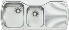 Oliveri-1-12-Bowl-Inset-Sink-with-Drainer on sale