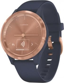 Garmin-Vivomove-3S-Watch-Small-Rose-Gold-Navy on sale