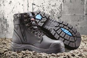 Steel-Blue-Argyle-Zip-Sided-Lace-Up-Safety-Boots-with-Bump-Cap on sale