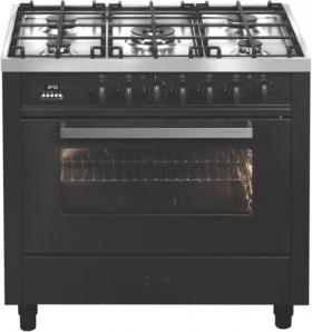 ILVE-90cm-Dual-Fuel-Upright-Cooker-Graphite on sale