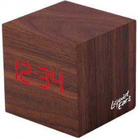 Liquid-Ears-Mini-LED-Alarm-Clock-Walnut on sale