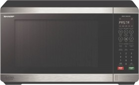 Sharp-32L-1200W-Flatbed-Microwave-Black-Stainless-Steel on sale