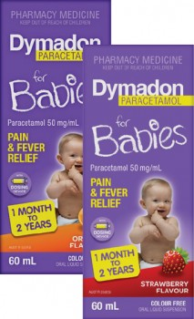 Dymadon-for-Babies-Pain-Fever-Relief-1-Month-to-2-Years-60mL-Range on sale