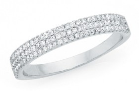 Sterling-Silver-Triple-Row-Pave-Cubic-Zirconia-Band on sale