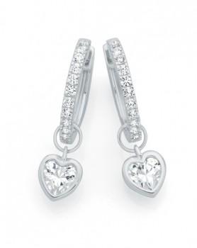 Sterling-Silver-Cubic-Zirconia-Hoop-Earrings on sale