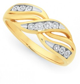 9ct-Gold-Diamond-Triple-Crossover-Ring on sale