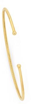 9ct-Gold-60mm-Flex-Cuff-Bangle on sale