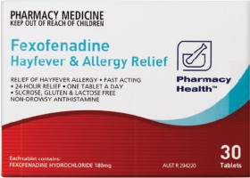 Pharmacy-Health-Fexofenadine-Hayfever-Allergy-Relief-30-Tablets on sale