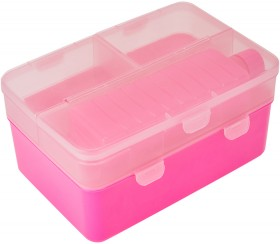 Pink-4-Section-Double-Decker-Lunch-Box-Bottle on sale