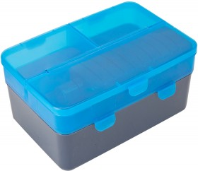 Blue-4-Section-Double-Decker-Lunch-Box-Bottle on sale