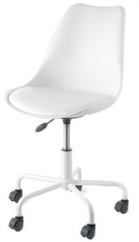 Desk-Chair-PU-White on sale